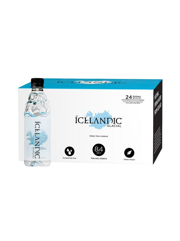 Icelandic Glacial Water [500mL] 1x case | 24 bottles