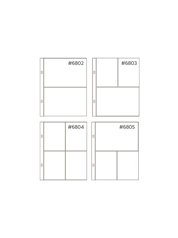 Anthology 6 x 8 Mixed Pocket Protectors (20 pack – 4 styles)