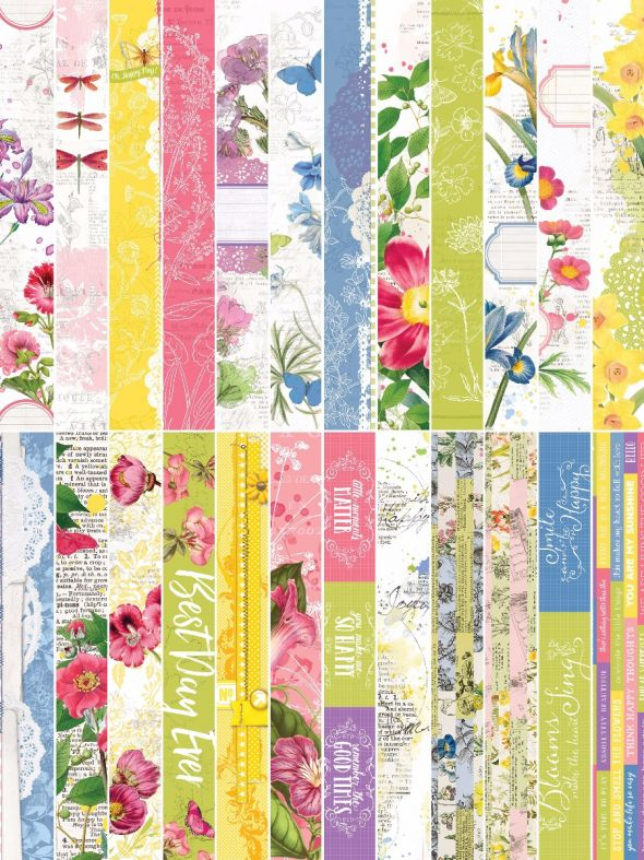 Floral Flourish  by Katie Pertiet Border Strips